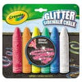 Crayola® 4 1/16in. Glitter Sidewalk Chalk, Assorted, 6 Sticks/Set