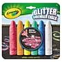 Crayola® 4 1/16 Glitter Sidewalk Chalk, Assorted, 6