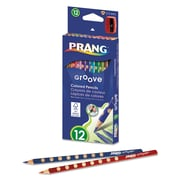 Prang® 3.3 mm Groove Colored Pencils 12/Set, Assorted