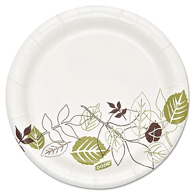 Dixie Ultra® Pathways 5 7/8in. Heavyweight Paper Plates, White, 500/Pack