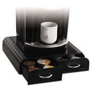 Mind Reader Anchor Single-Serve Coffee Organizer, Black, Two Drawer