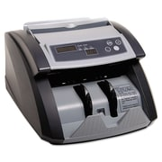 MMF® SteelMaster® Currency Counter With UV/MG Counterfeit Bill Detection, Black