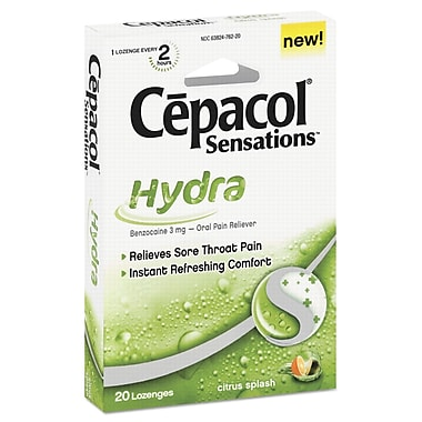 Cepacol® Sensations® Hydra Sore Throat Lozenges, Citrus Splash