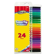 RoseArt® Supertip Washable Markers, Broad/Fine Tip, Assorted, 24/Set