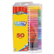 RoseArt® Supertip Washable Markers, Broad/Fine Tip, Assorted, 50/Set