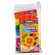 RoseArt® Scented Washable Mini Markers, Broad Tip, Assorted, 12/Set