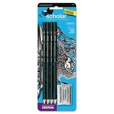 Prismacolor® 2 mm Scholar Graphite Pencil Set, 4/Set, Green
