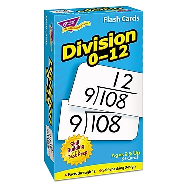 Trend Enterprises® in.Division 0-12in. Skill Drill Flash Card, Grade 4-5