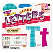 "Trend Enterprises® Ready Letters® 4"" Sock Monkeys Playful Uppercase/Lowercase Combo Pack"