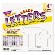 "Trend Enterprises® Ready Letters® 4"" Casual Uppercase/Lowercase Combo Pack, White"