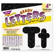 Trend Enterprises® Ready Letters® 4in. Casual Uppercase/Lowercase Combo Pack, Black Sparkle