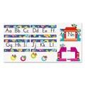 Trend Enterprises® Owl-Stars!® in.Alphabet Line Standard Manuscriptin. Bulletin Board Set, Grade PreK-4