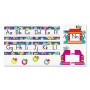 "Trend Enterprises® Owl-Stars!® ""Alphabet Line Standard Manuscript"" Bulletin Board Set, Grade PreK-4"