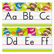 Trend Enterprises® Sock Monkeys Alphabet Line Standard Manuscript Bulletin Board Set, Grade PreK-4