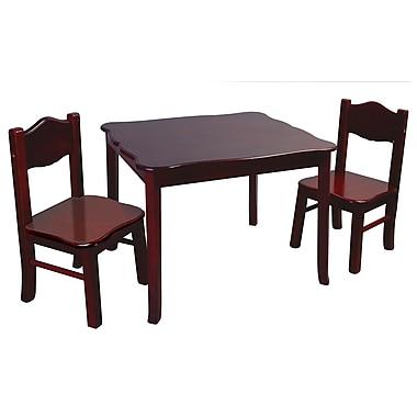 Classic Espresso Table & Chair