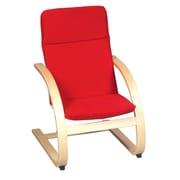 Nordic Rocker Chair Red