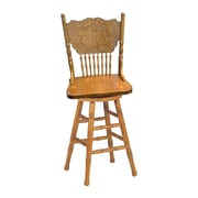 "Coaster® 24"" Traditional Swivel Bar Stool, Oak"