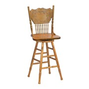 "Coaster® 29"" Traditional Swivel Bar Stool, Oak"