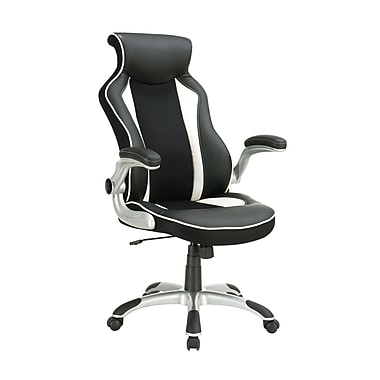 Coaster® Vinyl Office Task Chair With Race Car Seat Design, Black