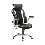 Coaster High-Back Vinyl Office Task Chair, Adjustable Arm, Black