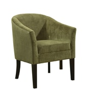 Coaster® Embossed Microvelvet Casual Accent Chair, Pistachio