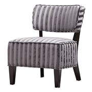 Coaster® Striped Fabric Upholstered Contemporary Accent Chair With Wood Legs, Gray