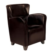 Coaster® Vinyl Solid Contemporary Accent Chair, Dark Brown