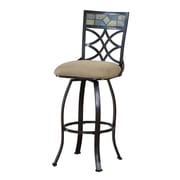 Coaster® 29 Metal Mid Back Upholstered Bar Stool