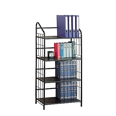Coaster® Casual Metal Bookcase With 4 Shelves, Black