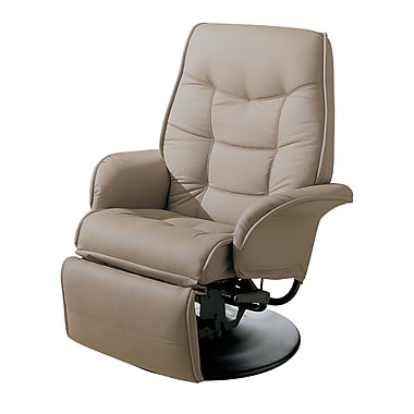 Coaster® Berri Leatherette Swivel Recliners With Flared Arms