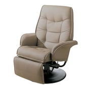 Coaster® Berri Leatherette Swivel Recliner With Flared Arms, Beige