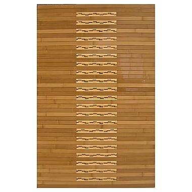 Anji Mountain High Gloss Inlaid Kitchen & Bath Mat Bamboo 24
