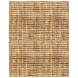 Anji Mountain Natural Boucle Hand Spun Jute 9in. x 12in. Area Rug with Tucked Ends