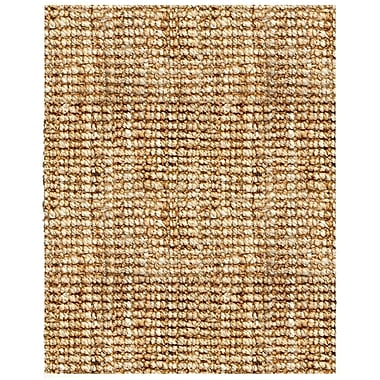 Anji Mountain Andes Jute Rug Natural Fiber 8' x 10' Tan / Gold