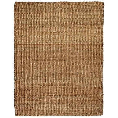 Anji Mountain River Sand Tan Jute & Hemp Area Rug Natural Fiber 9' x 12' Transitional