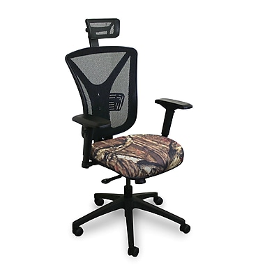 Marvel® Fermata® Fabric High-Back Executive Chair With Adjustable Arms & Headrest, Mossy Oak®