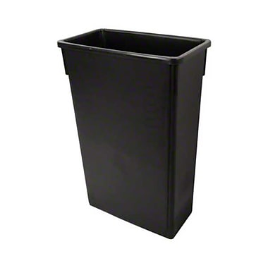 Update International SSC-23BK, 23 gal Plastic Space Saver Trash Can, Black