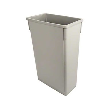 Update International SSC-23G, 23 gal Plastic Space Saver Trash Can, Gray