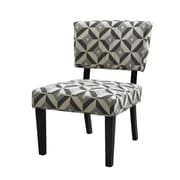 Linon Taylor Geometric Fabric Accent Chair, Graphite