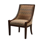 Linon Fabric Armless Chair, Brown (36251BAR-01-KD-U)