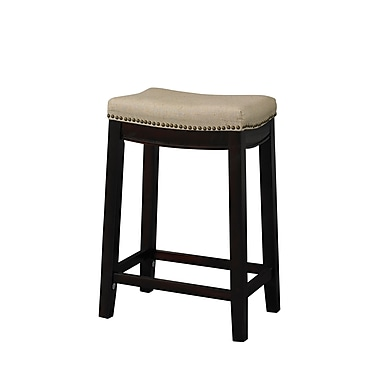 Linon Allure Fabric Bar Stool, Beige