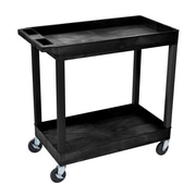 Luxor® E Series 2 Shelves Utility Tub Carts