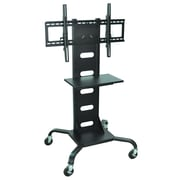 Luxor® H. Wilson's Universal Mobile Flat Panel TV Stand and Mount Cart, Black