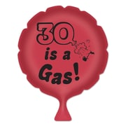 """Beistle 8"""" 30 Is A Gas! Whoopee Cushion, Red/Black, 4/Pack"""