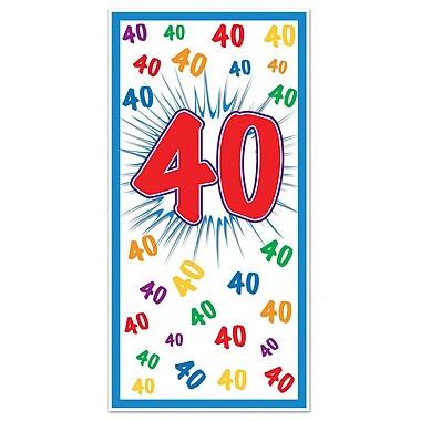 Affiche de porte « 40 », 30 po x 5 pi, 3/paquet