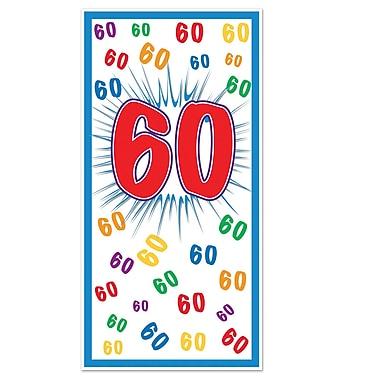 Affiche de porte « 60 », 30 po x 5 pi, 3/paquet