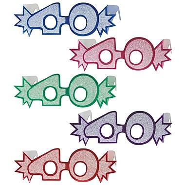 Lunettes « 40 » avec paillettes, taille quasi universelle, 25/paquet