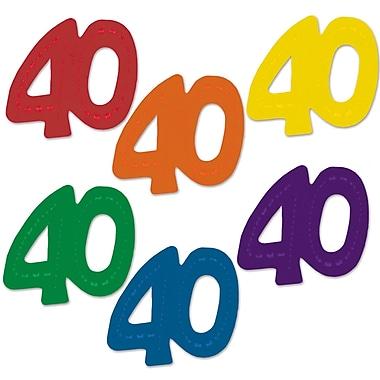 Fanci-Fetti géants « 40 », 2 3/4 po x 2 1/2 po, 60/paquet