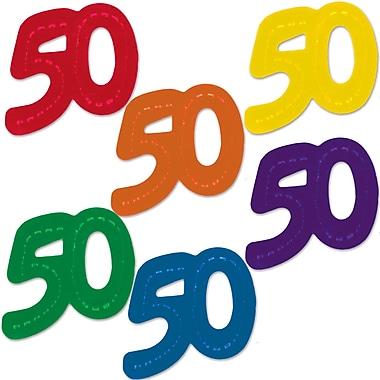 Fanci-Fetti géants « 50 », 2 3/4 po x 2 1/2 po, 60/paquet
