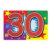 Affiche scintillante « 30 ». 10 x 15 po, 6/paquet